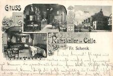 9290/ Foto AK, Gruss vom Rathskeller in Celle, 1900