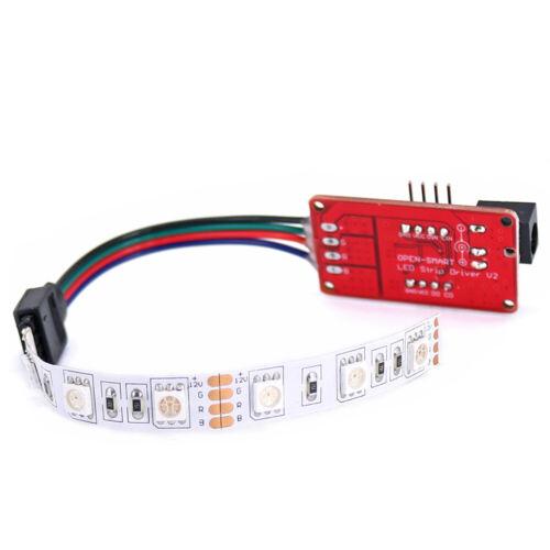 OPEN-SMART 10cm RGB-LED-Streifen-Treibermodul mit DC-Buchse für Arduino ER