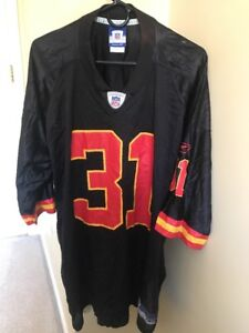 the latest bf508 18e24 Details about PRIEST HOLMES KANSAS CITY CHIEFS JERSEY SIZE 2XL #31 BLACK  NFL REEBOK