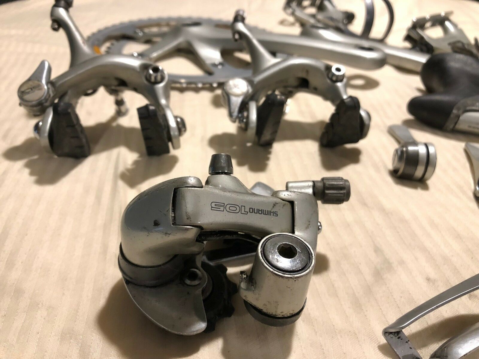 1992 Shimano  105 groupset indexed downtube shifting.  discount low price