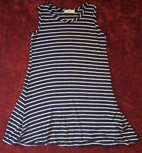 98b245be4 PINC Premium Tunic Top Dress Navy Blue   White Striped Girls Size 10 ...