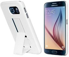 Amzer Shell Snap On Hard Case Cover With Kickstand For GALAXY S6 SM-G920F -White