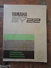 Rare Original YAMAHA 90' SY22 SY 22 Owner manual UK English DE FR