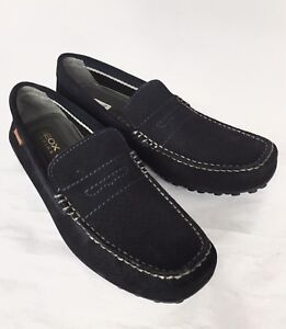 Acorazado alabanza Ingenioso  New Geox Men Suede Moccasins Loafers 2 Fittings Wide Navy Blue 46 12.5 |  eBay