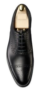 Homme-Fait-a-la-main-Chaussures-En-Cuir-Oxford-Noir-Richelieu-a-Capped-Off-FORMAL-LACE-UP-boots