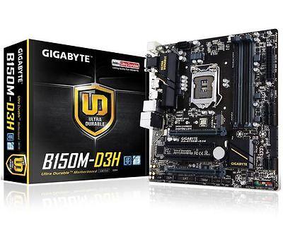 NEW Gigabyte B150M-D3H LGA1151 Motherboard mATX DDR4 HDMI USB3 SATA6 DVI VGA M.2
