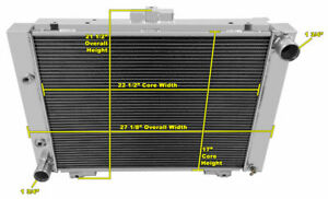 A//C Heavy Duty 1964 1965 1966 Ford Mustang 4 Row DR Champion Aluminum Radiator