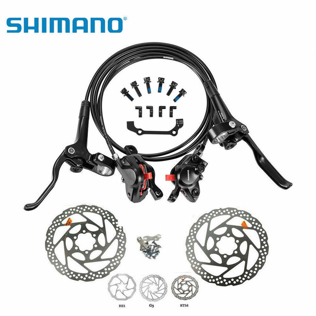 Shimano SM-BH59-JK BL-MT200 Hydraulic Dis Front&Rear Brake Set With 160mm redors