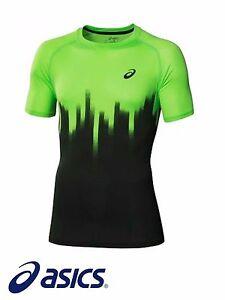 Asics-Movimiento-Cool-039-de-salon-Estampada-039-tenis-Gimnasio-Deporte-Camiseta