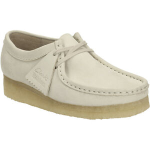 da2cb3ab8e94 Clarks Originals Womens Ut Wallabee Off White Suede UK 3,4,5,6,7 D ...