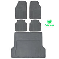 Odorless Hd Eco-tech Rubber Floor Mats Car Suv Truck W/ Cargo Liner Gray on sale