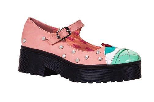 IRON FIST LICK ME HEAVY SOLE FLATS PINK MINT PEARL Schuhe Damenschuhe SIZE 7-10