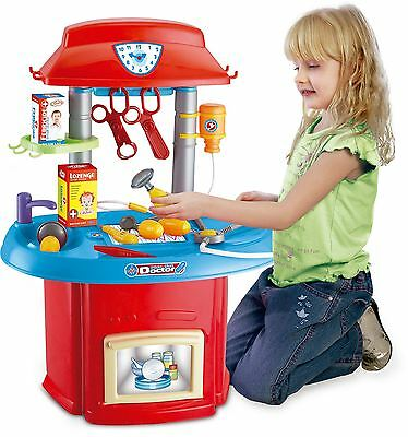 DOCTOR NURSE MEDICAL SURGERY CHILDRENS KIDS PRETEND PLAY HOSPITAL TROLLEY TOY
