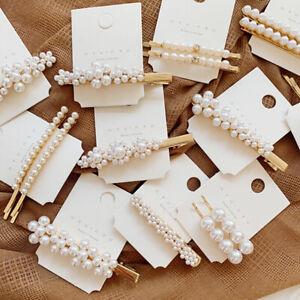 Les-femmes-perle-cheveux-clip-Snap-barrette-baton-epingle-Bo-ST