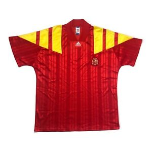 🔥Vintage Spain 1992/94 Home Football Shirt Original Adidas - XL🔥