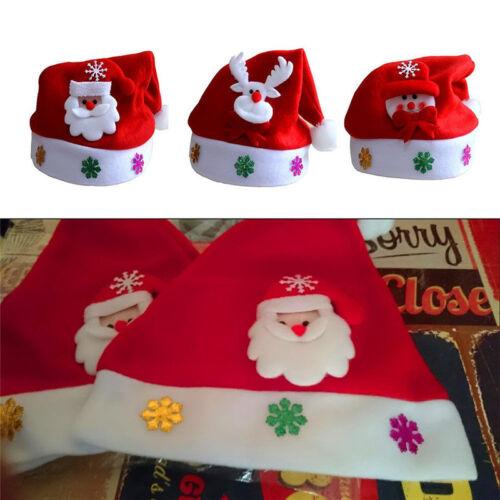 Kid Cheer Christmas Hat Kids Santa Claus Reindeer Snowman Xmas Party Red Cap Fad