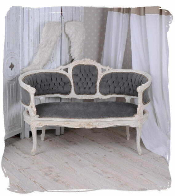 Vintage Sofa Marie Antoinette Couch Bench Shabby Chic Baroque Sofa Salon Sofa For Sale