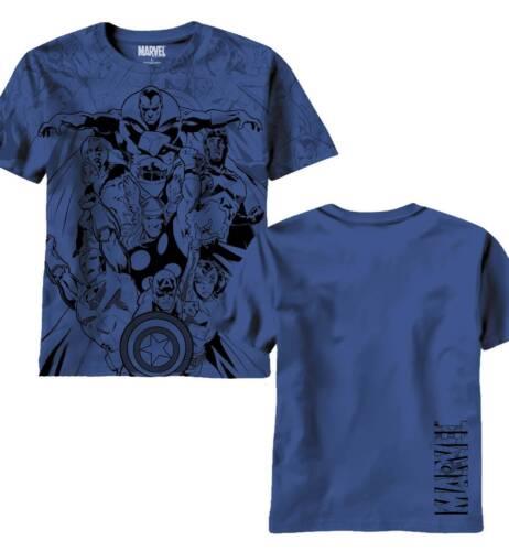 Avengers Valiants Aop Navy T-Shirt