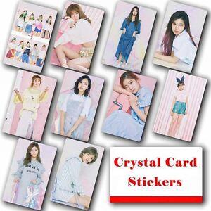 10pcs-set-Kpop-TWICE-Collective-HD-Lustre-Photo-Card-Crystal-Card-Sticker