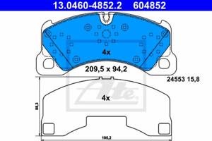 Scheibenbremse für Bremsanlage Vorderachse ATE 13.0460-4852.2 Bremsbelagsatz