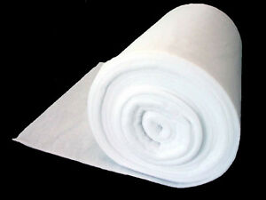 Details about 10 METRE ROLL 205gsm / 6oz POLYESTER WADDING DACRON 27