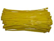 100 x YELLOW Cable Ties 200mm x 4.8mm - Nylon Zip Ties