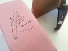Samsung Galaxy S3 Mini i8190 TINKERBELL LEATHER pink flip case fairy fairies 2