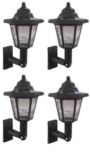 LED SOLAR POWERED WALL LANTERNS WALL SUN LIGHTS LAMP OUTDOOR GARDEN PATIO DOOR U