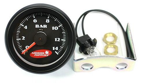 *** double Double Pression Manomètre Dual pression affichage 0-14bar NOUVEAU noir analogique