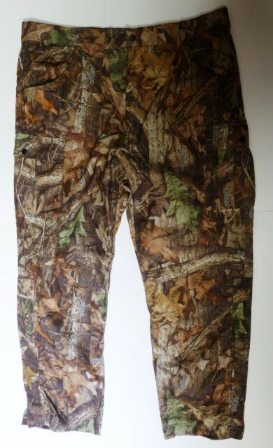 Scent-Lok Men's L Camouflage Camo Cargo Pants Zipper Leg ADVANTAGE TIMBER