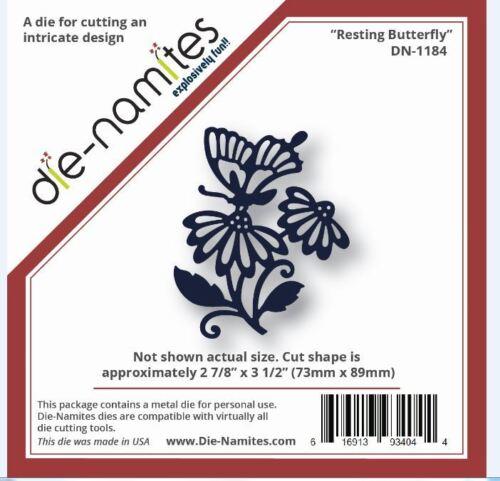 Die-Namites Intricate Design Single Cutting Die  RESTING BUTTERFLY  ~DN-1184