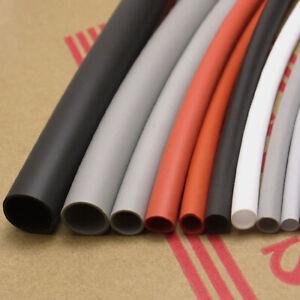 0.8-30mm Silicone Rubber Heat Shrink Tube Tubing Flexible Sleeve 2500V Grey Gray