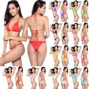Womens-Beach-Swimwear-Triangle-Bra-Underpant-Bikini-Set-Bathing-Swimsuit-YY