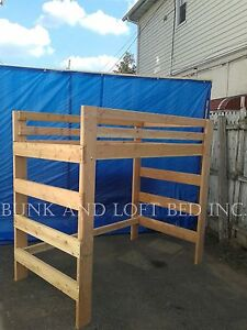 Supreme Adult Full Size Loft Bed With 1000 Weight Capacity