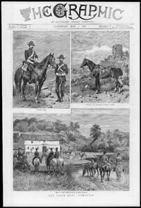1886-Antique-Print-GIBRALTAR-Calpe-Hunt-Hounds-Guardia-Civil-Long-Stables-177