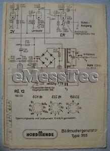 NORDMENDE-Bildmustergenerator-955-Abgleichplan-Traegergenerator-956-Schaltplan