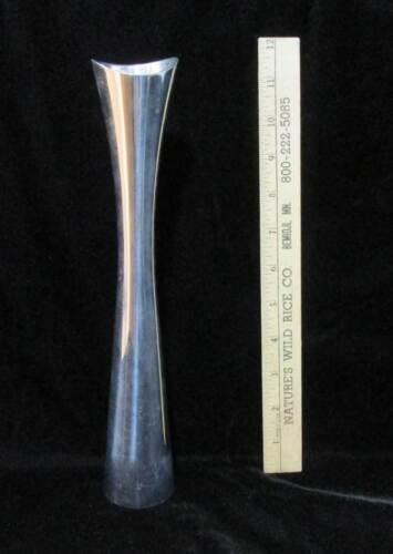 Aluminum Bud Vase Nambe Studio 1994 Signed Karim Modern Floral