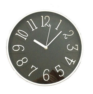 wanduhr design 30cm modern k chenuhr wohnzimmeruhr wanddekoration schwarz. Black Bedroom Furniture Sets. Home Design Ideas
