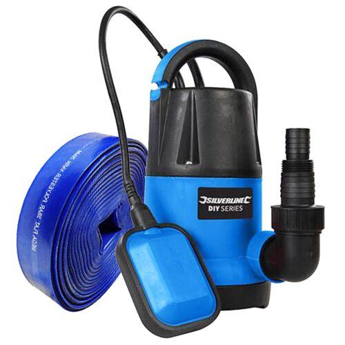 Submersible Pompe à eau 250 W 10 M Tuyau Rapide 5000 litres//hr Flow Silverline À faire soi-même