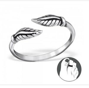 Sterling-Silver-925-Leaf-Toe-Ring