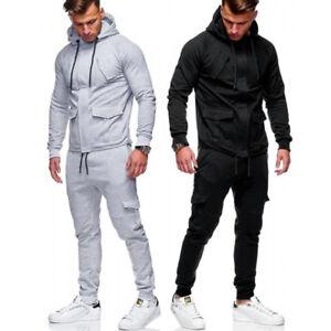 Men-Tracksuit-Sports-Suit-Sets-Outwear-Sweat-Hoodies-Long-Pants-Jogger-Plus-Size