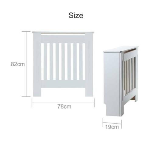 White Radiator Cover Cabinet Small Large Modern MDF Slat Wood Grill Furniture UK