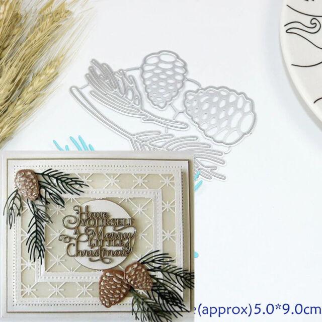 4psc Christmas Pine Cones Metal Cutting Dies Scrapbook Paper Craft Handmade