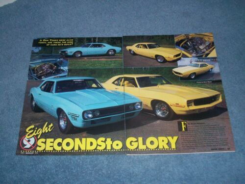 "1967 & 1969 Camaro Drag Car Article ""Eight Seconds to Glory"" Cars inc."