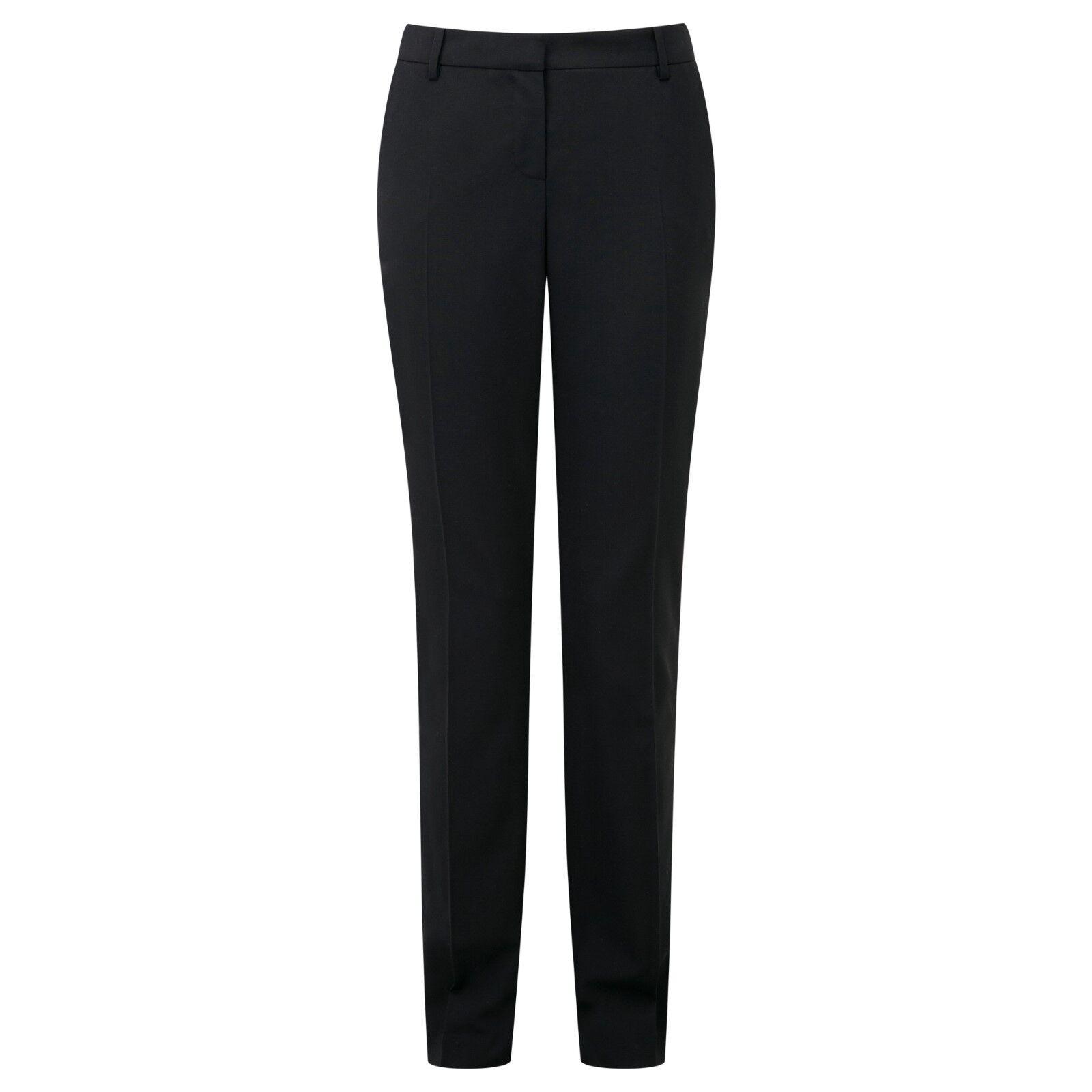 BNWT Pure Collection Slim Leg Leg Leg Pantaloni Misto Lana-Nero-Taglia 10 S Rrp 135e30