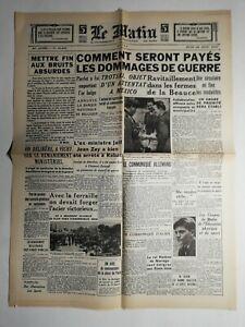 N466-La-Une-Du-Journal-Le-Matin-22-aout-1940-dommages-de-guerre
