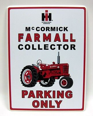 """Item #4910-125 FARMALL Wooden SIGN /""""Collector Parking Only/"""""""