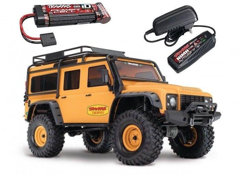 Traxxas trx-4 Land Rover Defender Trophy 1 10 4wd rtr, batería, cargador cs2