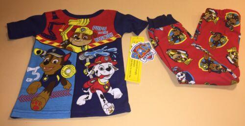 Nickelodeon Paw Patrol Toddler Boy Short Sleeve Shirt /& Pants Pajamas PJs New 4T