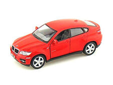 New Kinsmart 1/38 scale BMW X6 RED Diecast Model Toy Car with PULL BACK & GO